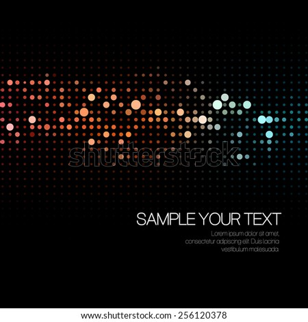 Abstract background with dots. Vector illustration EPS10