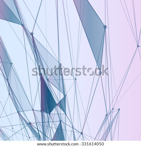 Abstract background with dotted grid and triangular cells
