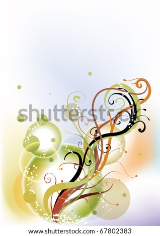 Abstract background with elegant line
