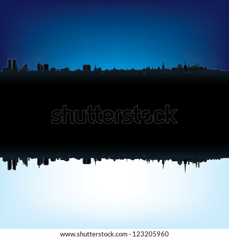 Abstract background with estonian flag and silhouette of Tallinn