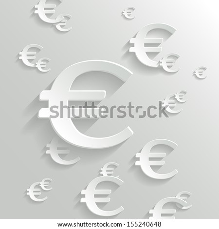 Abstract Background with Euro  Symbol.