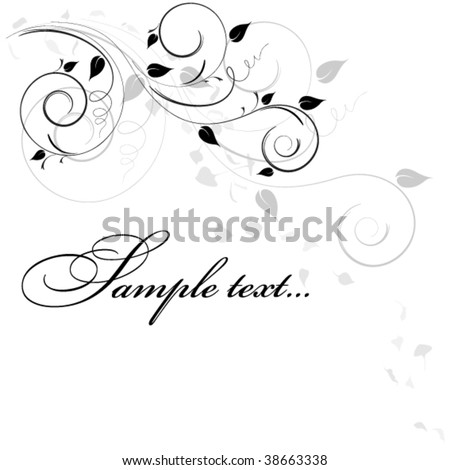 abstract background with falling leaves - stock vector