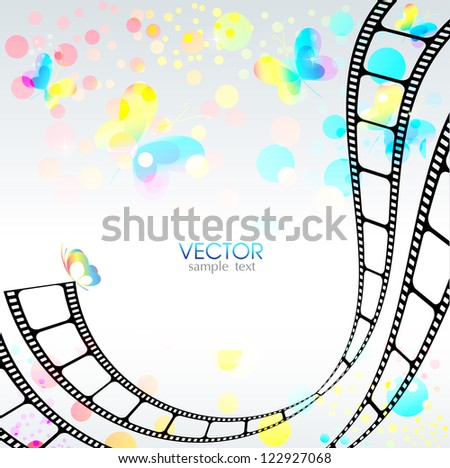 abstract background with film into - stock vector