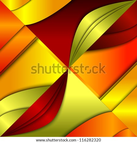 Abstract background with fish silhouettes - stock vector