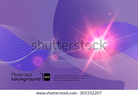 Abstract background with flare. Vector illustration.
