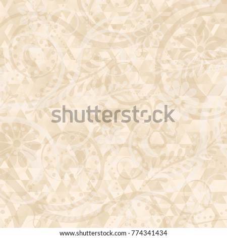 abstract background with floral motif