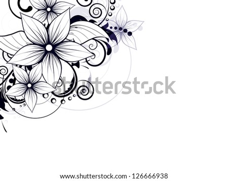 Abstract background with floral ornament elements