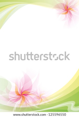 Abstract background with flowers and space for your text - stock vector