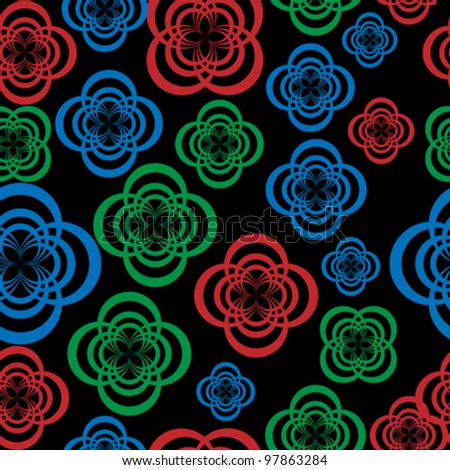 Abstract background with flowers pattern - stock vector