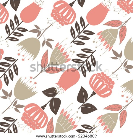 Abstract background with flowers . vector illustration - stock vector