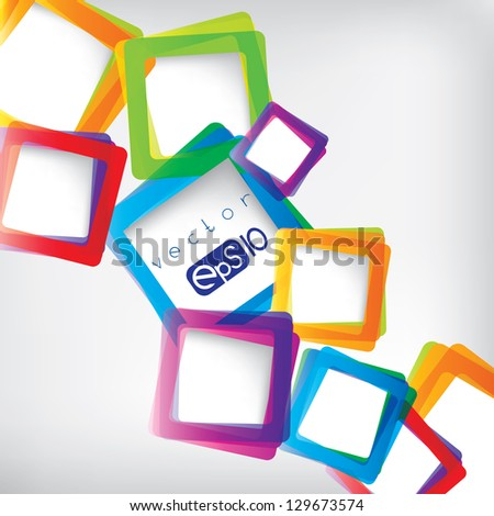 Abstract background with frame for text - stock vector