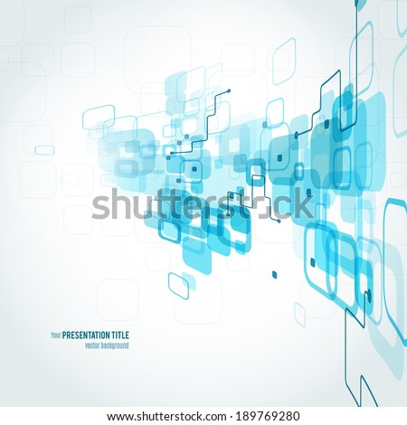 Abstract background with geometric elements. Vector illustration for your business presentation - stock vector