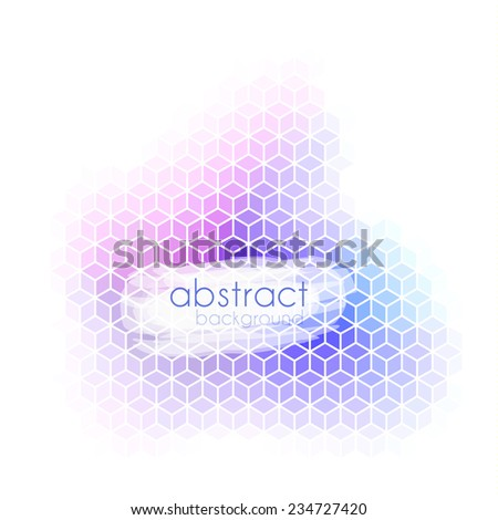 Abstract background with geometric pattern and copyspace - eps10  - stock vector