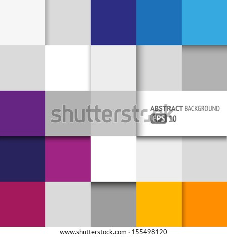 Abstract background with geometric shapes - squares - stock vector
