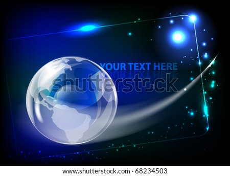 Abstract background with globe. EPS10 vector illustration. - stock vector