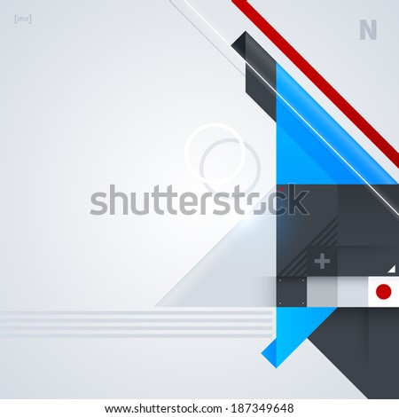 Abstract background with glossy geometric shapes. Useful for digital compositions and layouts. EPS10 - stock vector