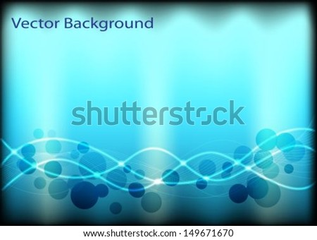 abstract background with glowing circles and lines - stock vector