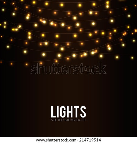 Abstract background with glowing lights - stock vector