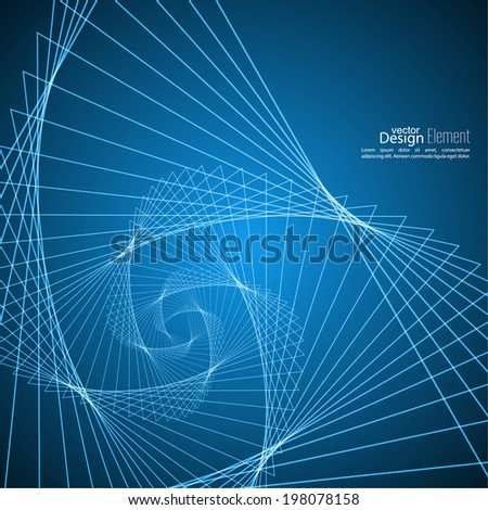 Abstract background with glowing spiral. - stock vector