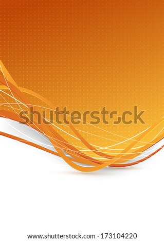 Abstract background with golden waves. Vector illustration