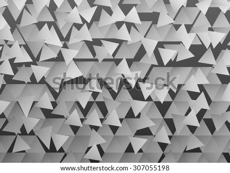 Abstract background with gray triangular shapes - stock vector