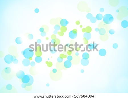 Abstract background with green and blue circles - stock vector