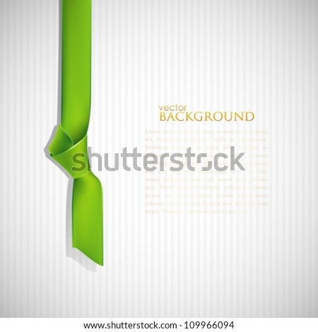abstract background with green bookmark - stock vector