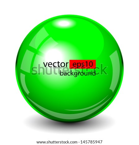 Abstract background with green glass balls