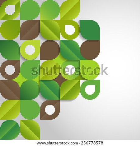 Abstract background with green leaves, eps10 vector - stock vector