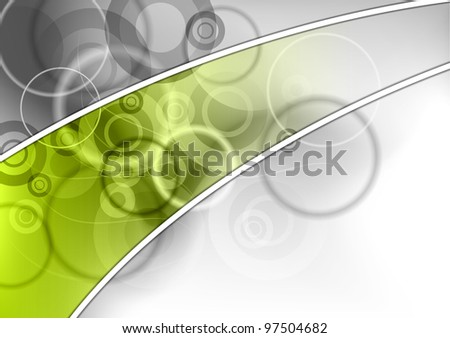 abstract background with green strip