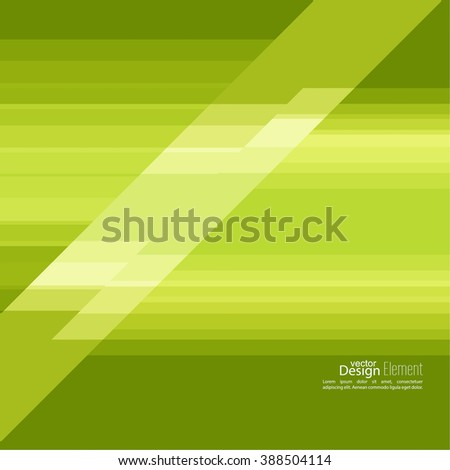 Abstract background with green stripes corner. Concept new technology and dynamic motion. Digital Data Visualization. For cover book, brochure, flyer, poster, magazine, booklet, leaflet - stock vector