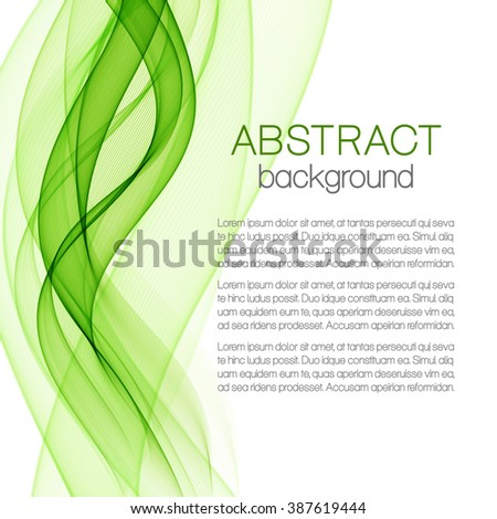 Abstract background with green waves - stock vector