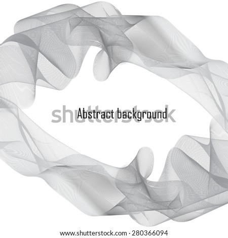 Abstract  background with grey waves. Vector illustration. Eps 10 - stock vector