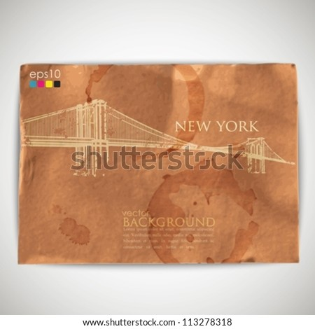 abstract background with grunge cardboard texture - stock vector