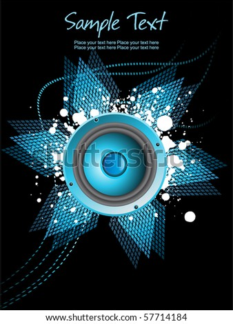 abstract background with grungy vinyl, vector illustration