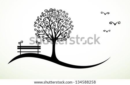 abstract background with hand drawn swirl elements eps8 - stock vector
