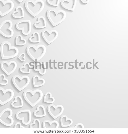 Abstract background with hearts. Vector illustration.  - stock vector