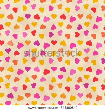Abstract background with hearts. Vector seamless pattern - stock vector