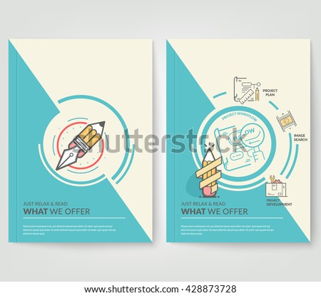 Abstract Background with icons. Geometric Shapes and Frames for Presentation, Annual Reports, Flyers, Brochures, Leaflets, Posters, Business Cards and Document Cover Pages Design - stock vector