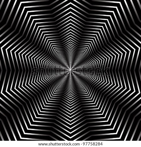 Abstract background with infinite geometric elements, vector illustration. - stock vector