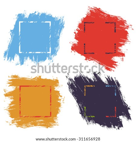 Abstract background with ink brush strokes - stock vector