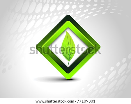 abstract background with isolated nature icon, vector illustration - stock vector
