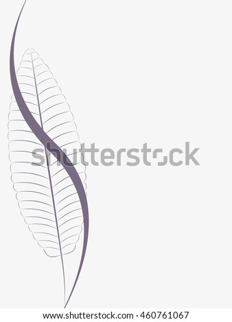 Abstract background with leaves.