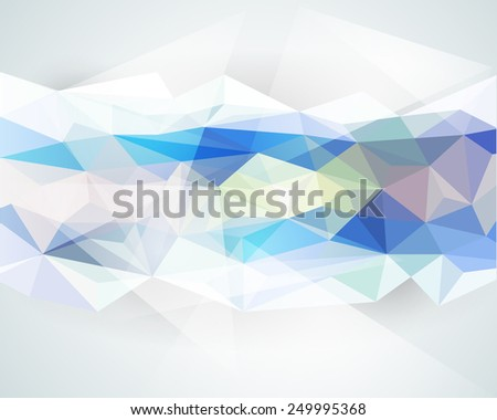 Abstract background with light color polygonal design - Illustration vector - stock vector