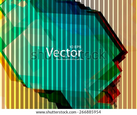 Abstract background with lighting effect. Vector  - stock vector