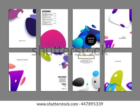 abstract background liquid bubbles shapes brochure stock vector