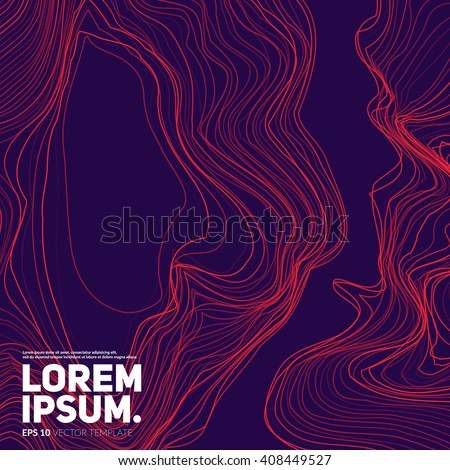 Abstract background with liquid lines. Applicable for Covers, Placards, Posters, Flyers, Banners etc. - stock vector