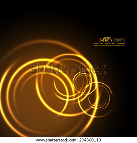 Abstract background with luminous swirling backdrop.  Intersection curves. Glowing spiral. The energy flow tunnel. Fire circles. Vector - stock vector