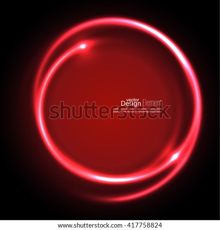 Abstract background with luminous swirling backdrop. Intersection curves. Glowing spiral. The energy flow tunnel. Vector. red, maroon, crimson, magenta, ruby - stock vector