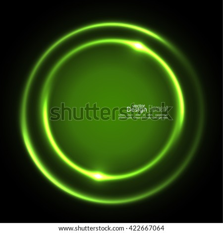 Abstract background with luminous swirling backdrop. Intersection curves. Glowing spiral. The energy flow tunnel. Vector. green, jade, malachite, lime - stock vector